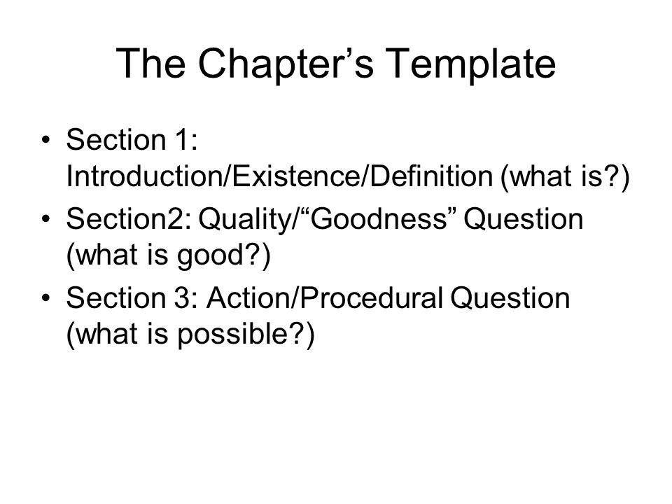 2 The Chapteru0027s Template Section 1: Introduction/Existence/Definition ...