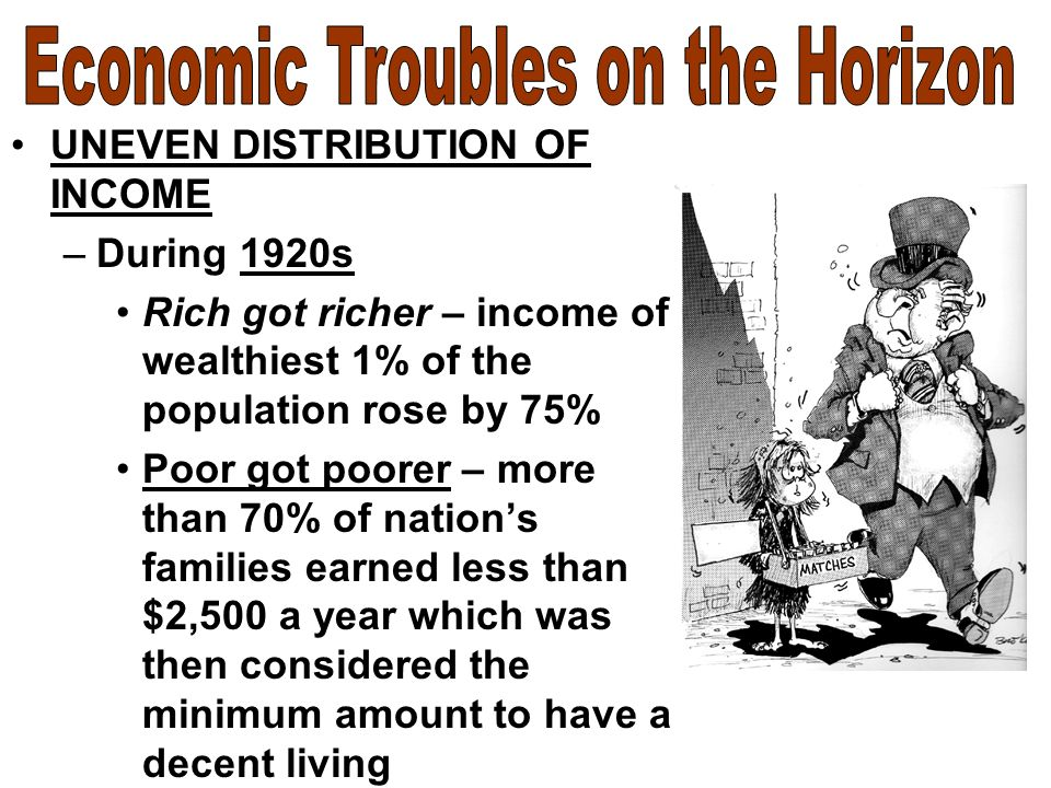 uneven distribution of wealth contributed to the stock market crash of 1929 Why did this prosperity come to a sudden end in to cope with the rush for money when the wall street crash on the stock market in 1929.