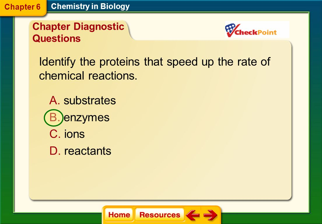 Chemistry in Biology Chapter 6