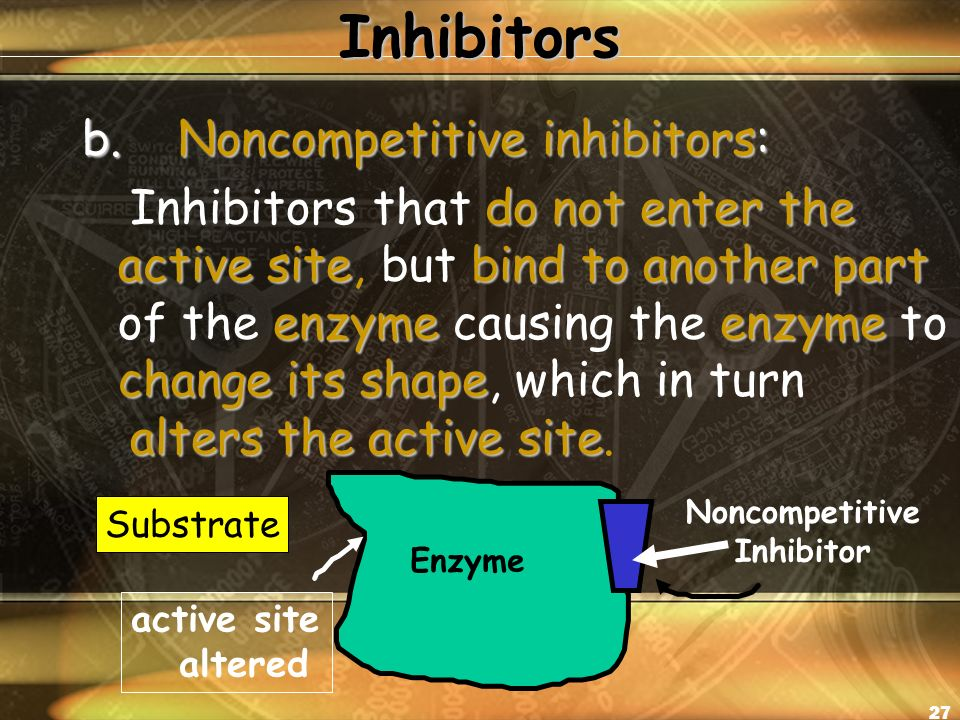 26 Two examples of Enzyme Inhibitors a.