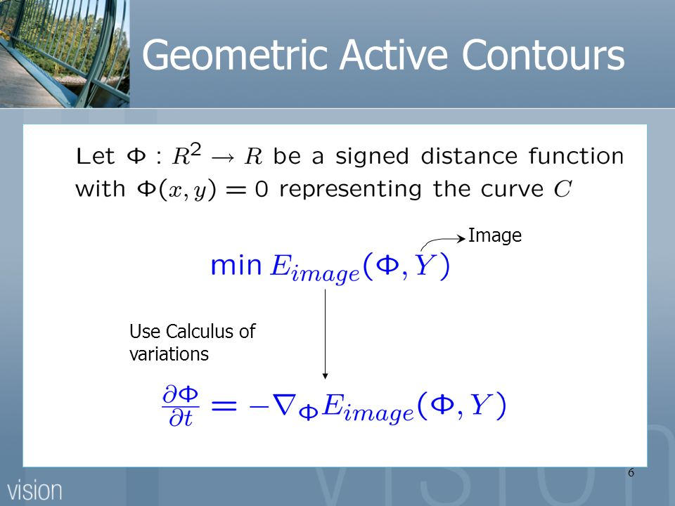 6 Geometric Active Contours Image Use Calculus of variations