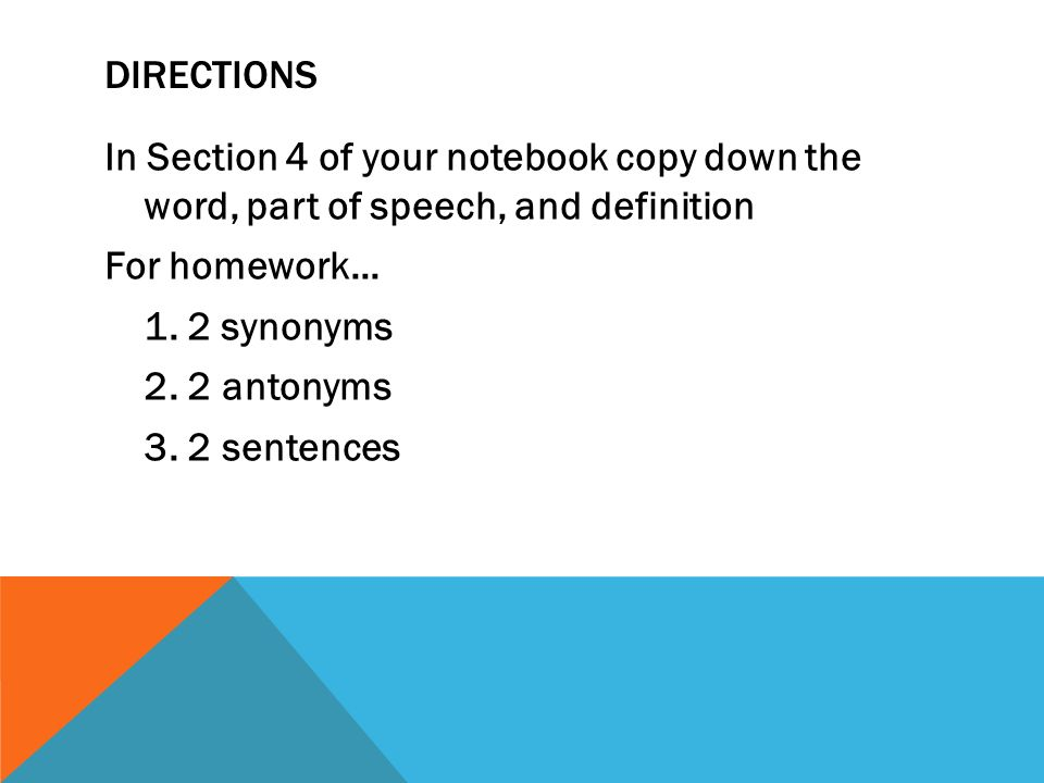 Synonym for homework