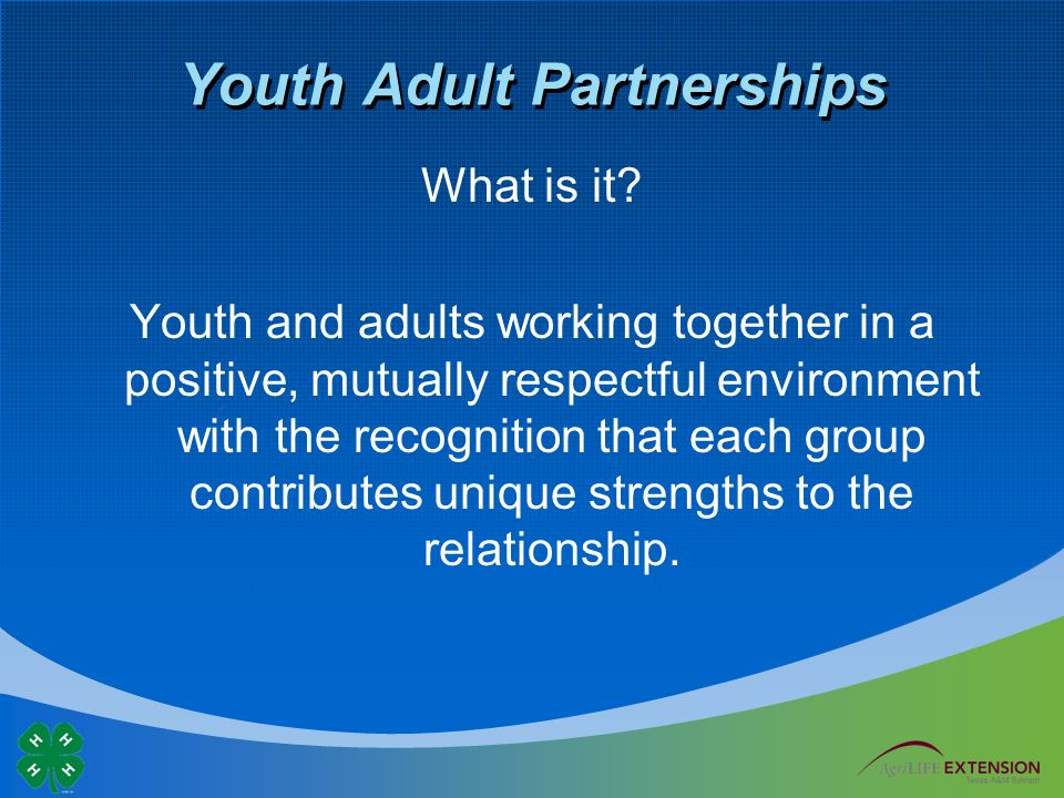 Youth Adult Partnerships What is it.
