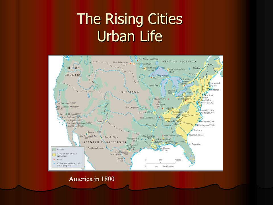 The Rising Cities Urban Life America in 1800