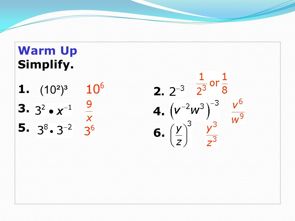 7 5 Division Properties Of Exponents Worksheet Answers warm up – Division Properties of Exponents Worksheet