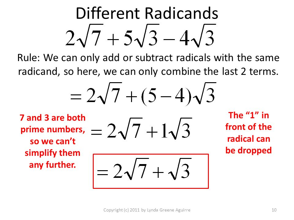 and radical expressions