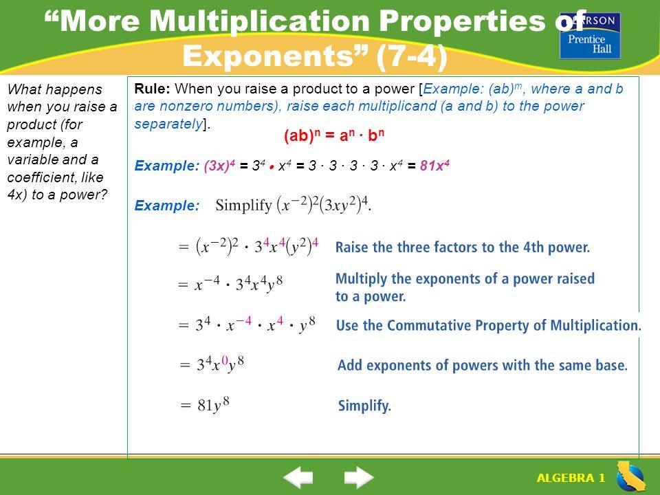 math worksheet : more multiplication properties of exponents worksheet 7 3  worksheets : Multiplication Properties Of Exponents Worksheet