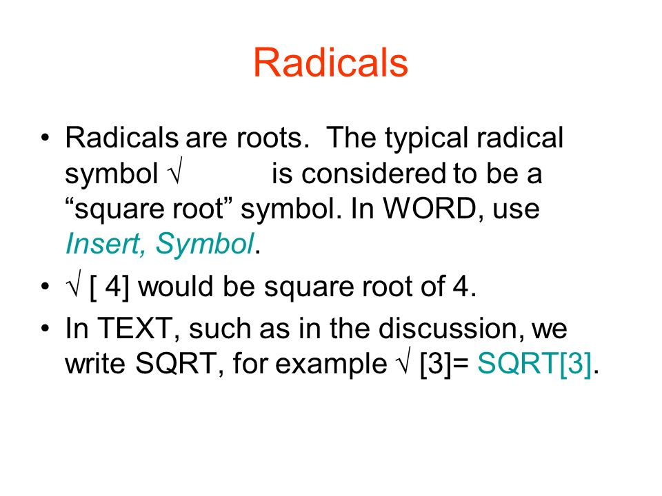 Welcome To Unit 5 Our Topics For This Week Radical Exponents