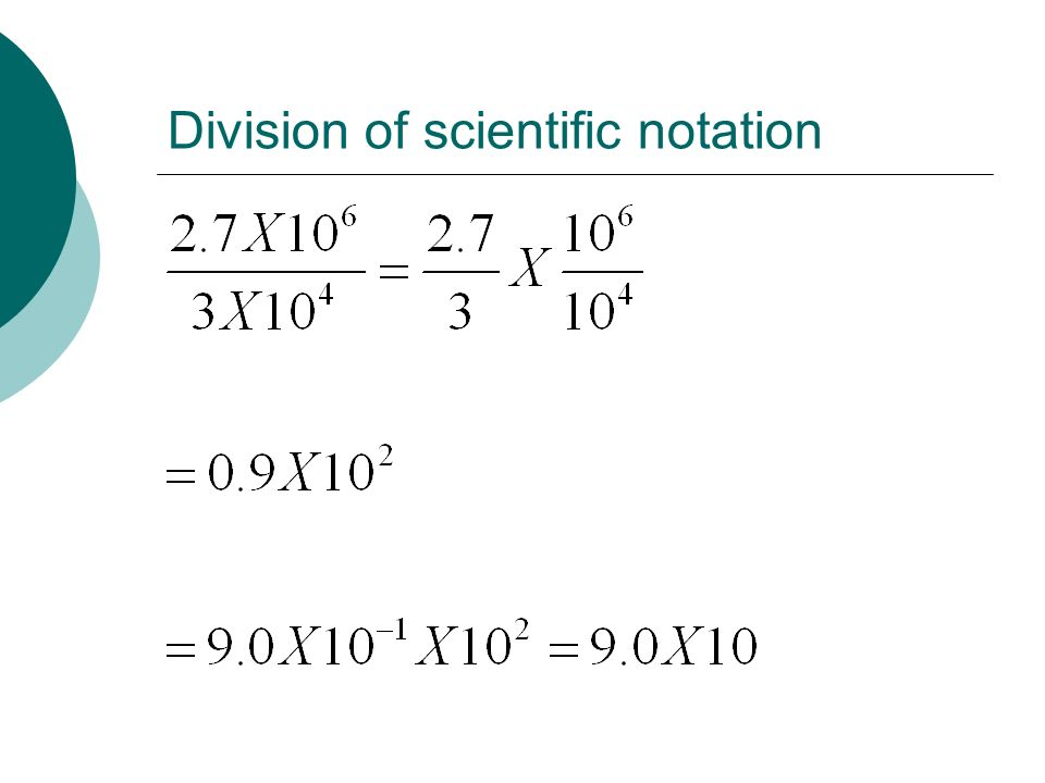 Division of scientific notation