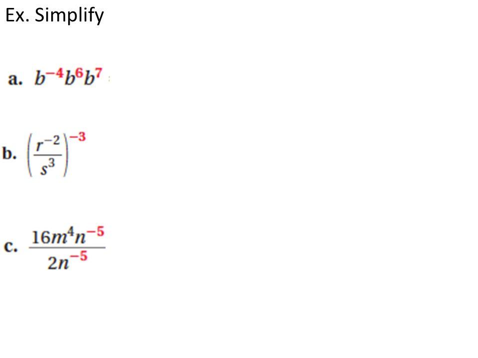 Ex. Simplify