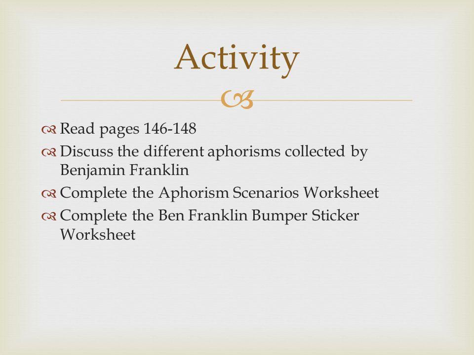 Benjamin Franklin Got his start as a printer as an – Ben Franklin Worksheets