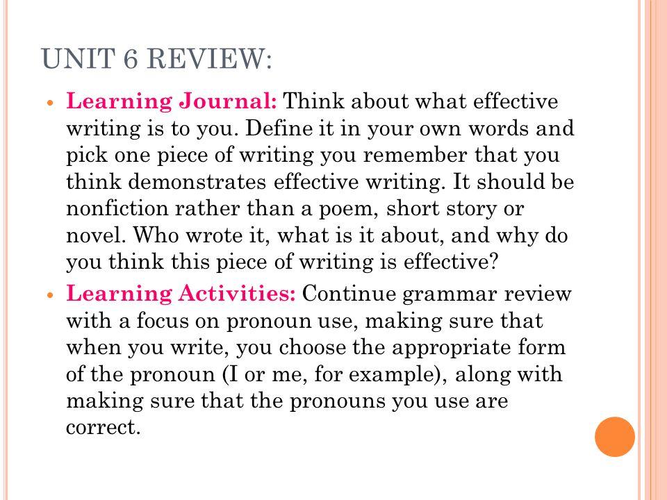 Define effective writing