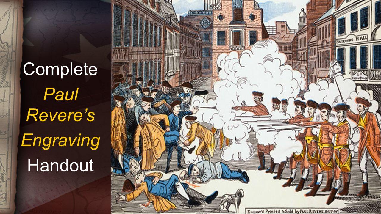 Complete Paul Revere's Engraving Handout