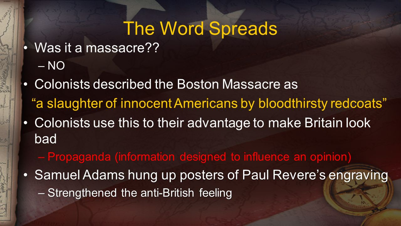The Word Spreads Was it a massacre .