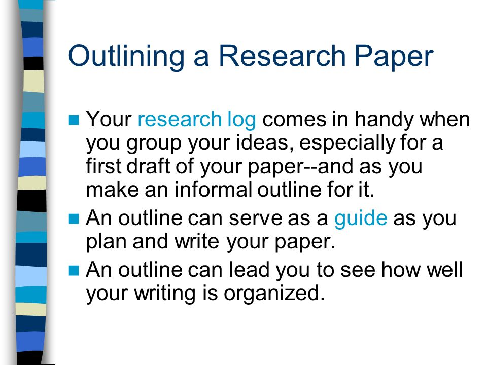 formal outline for a research paper