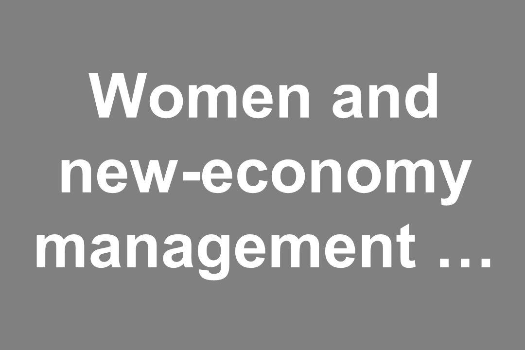 Women and new-economy management …