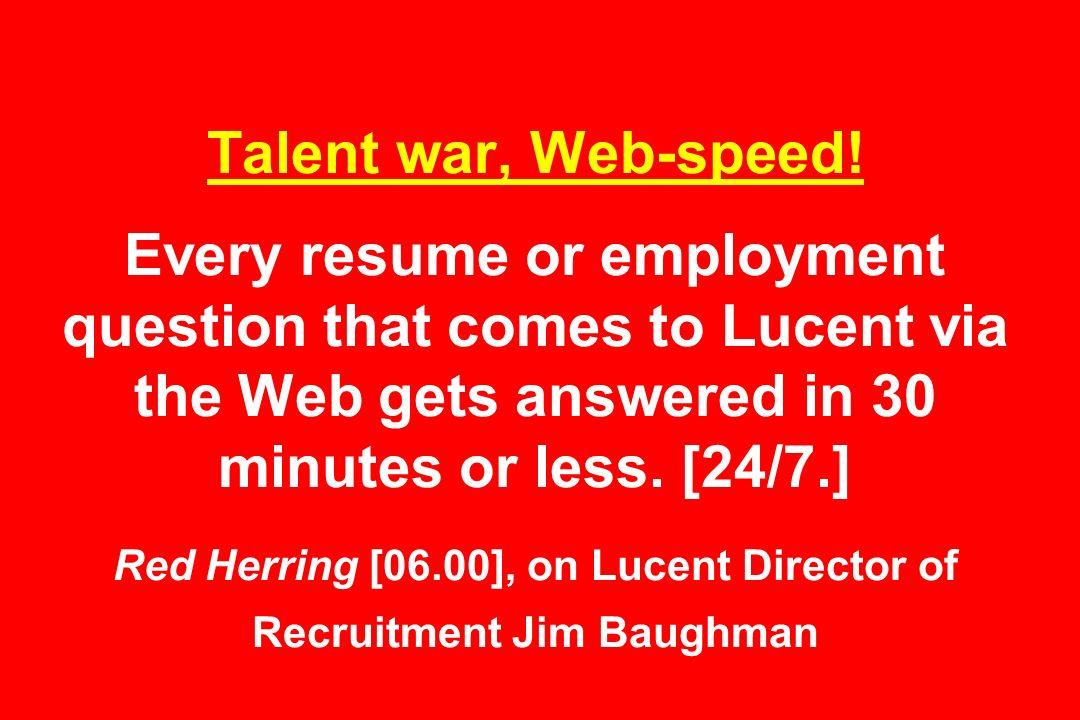 Talent war, Web-speed.
