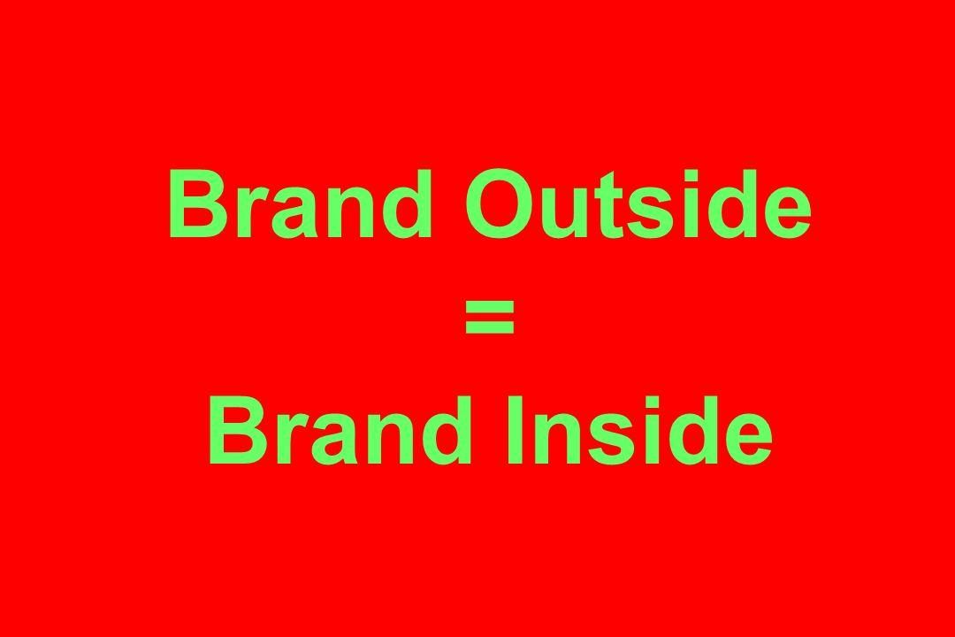Brand Outside = Brand Inside
