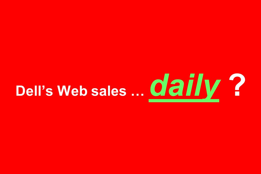 Dell's Web sales … daily