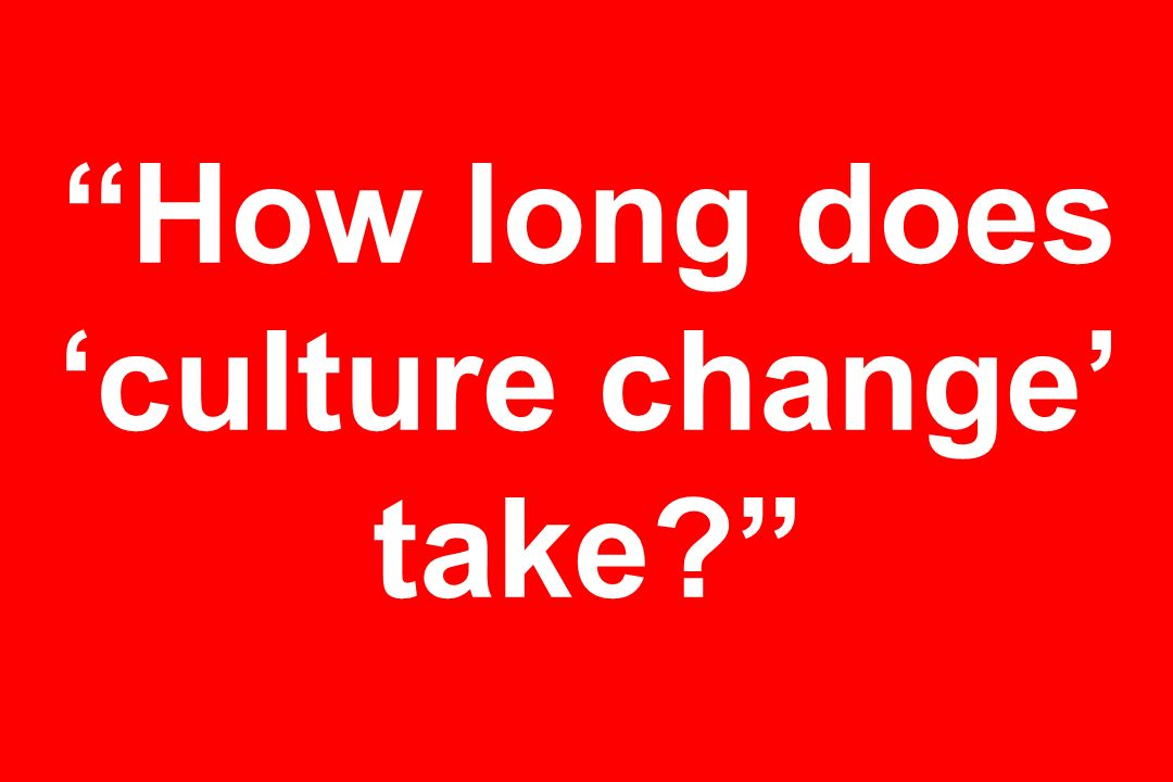 How long does 'culture change' take