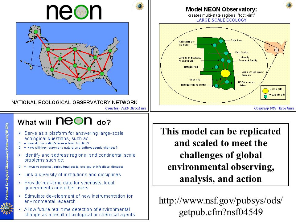 This model can be replicated and scaled to meet the challenges of global environmental observing, analysis, and action   getpub.cfm nsf04549