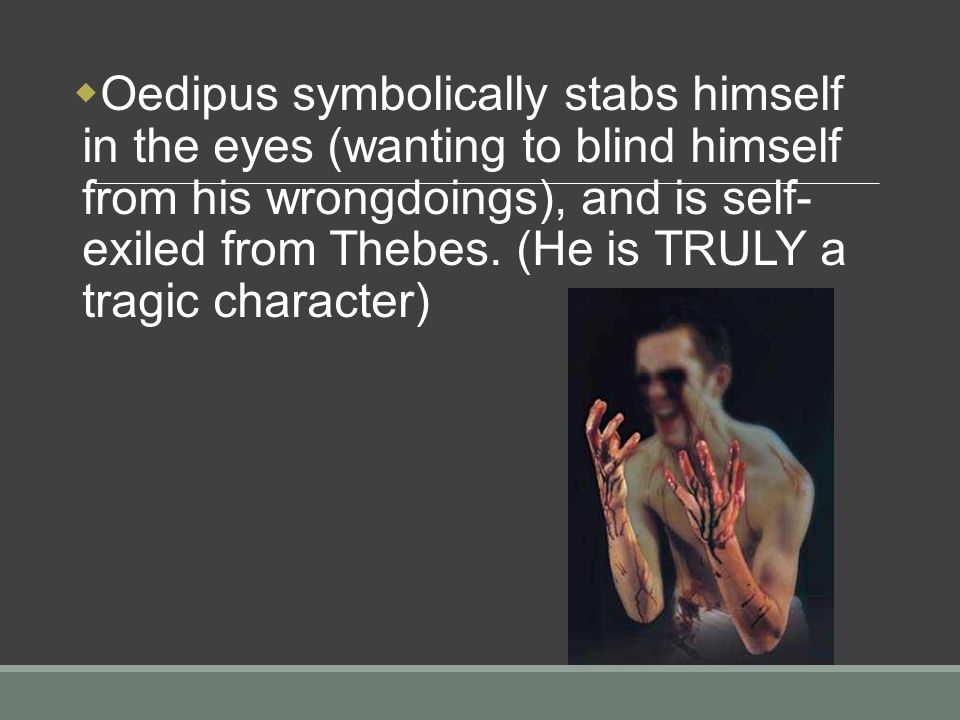 an analysis of a tragic character in oedipus