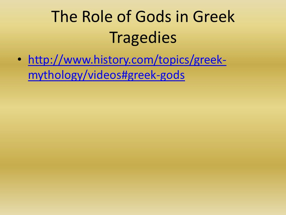 roles of the greek gods in