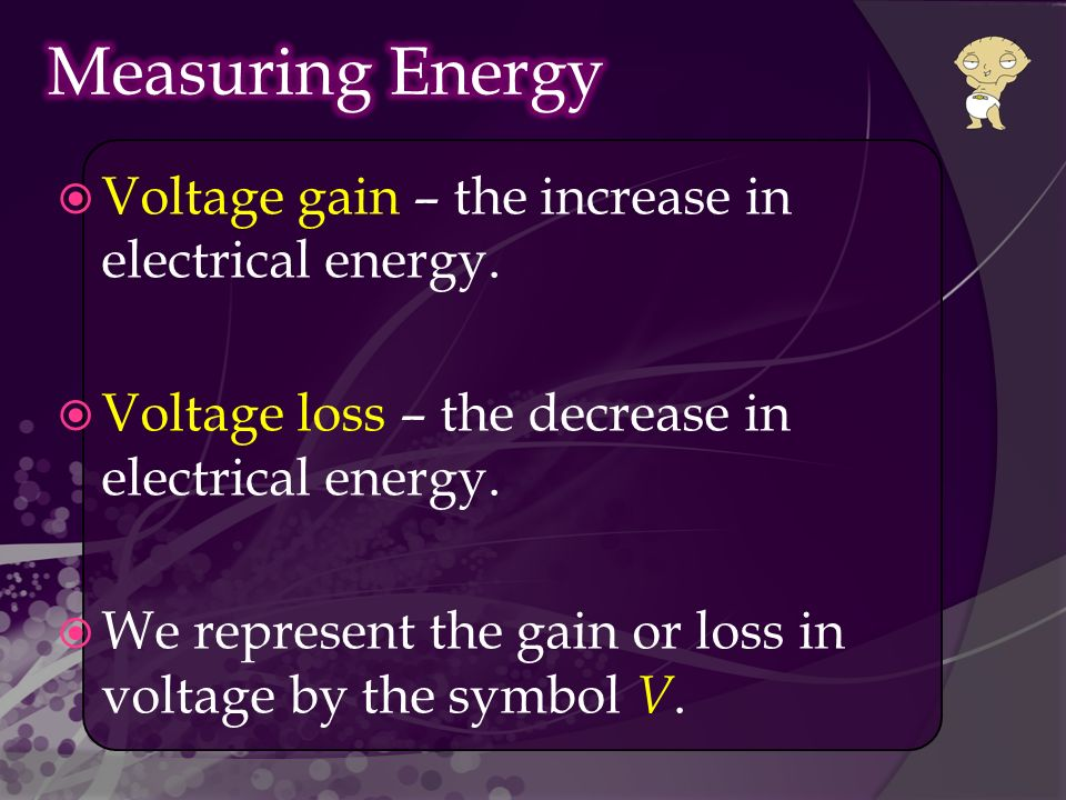  Voltage gain – the increase in electrical energy.