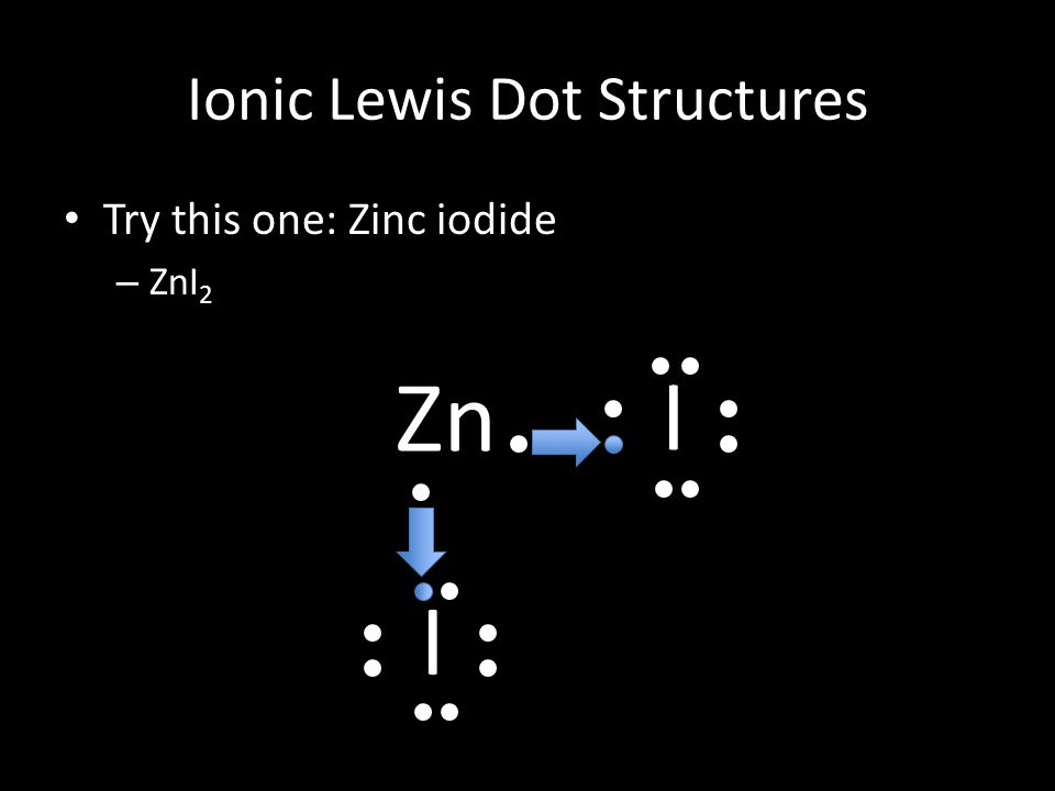 Today is thursday october 16 th 2014 pre class when we were 26 ionic lewis dot structures try this one zinc iodide zni 2 zn i i ccuart Image collections