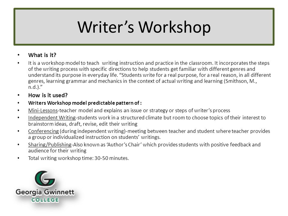 What is a workshop?