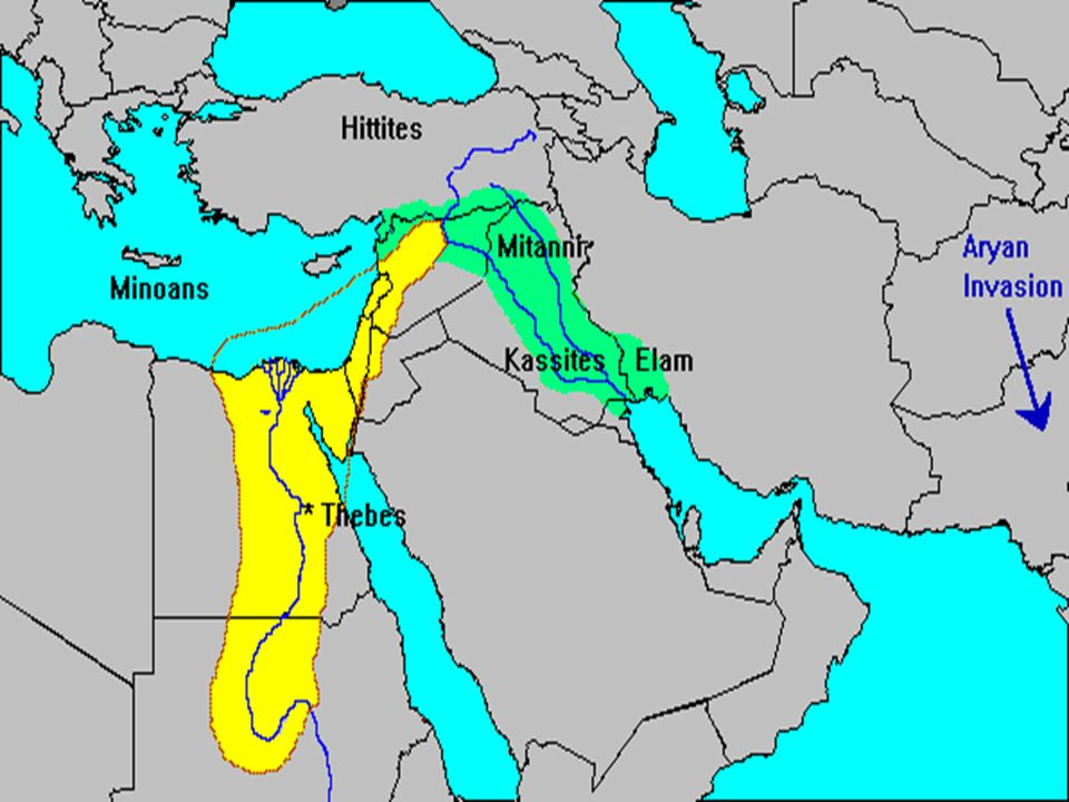 Ancient Egypt The New Kingdom New Kingdom Hyksos Were Driven - Map of egypt during the new kingdom