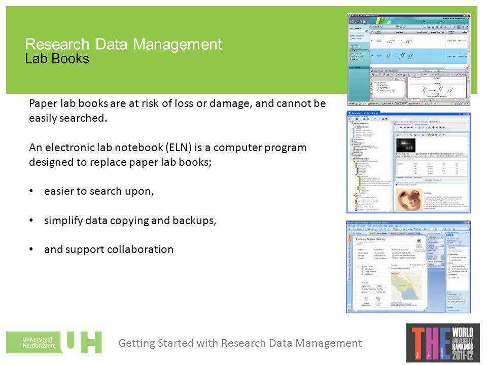 DOCUMENTATION Research Data Management. Research Data Management ...