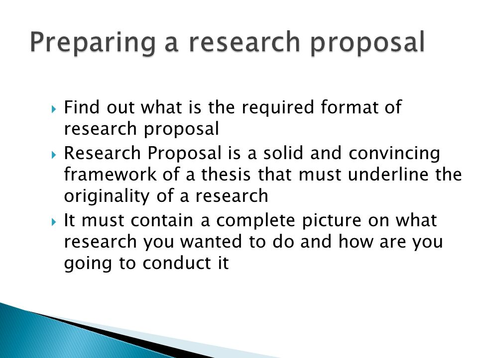 research format