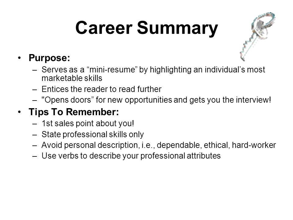 professional attributes for resumes