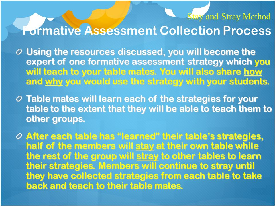 TodayS Training Topic Formative Assessment On The Index Card