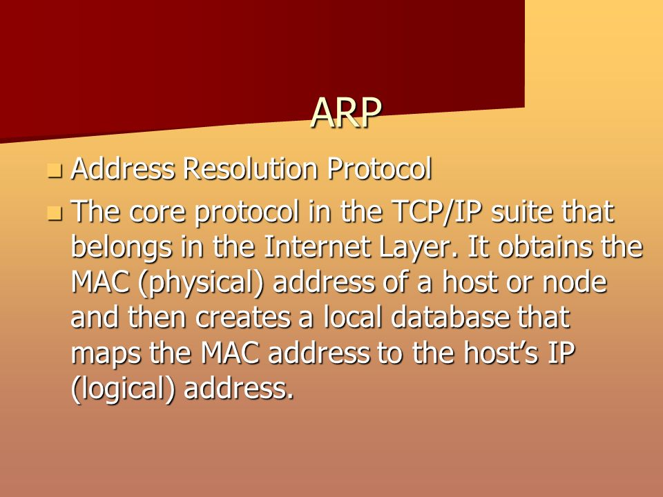 Chapter Three Network Protocols By JD McGuire