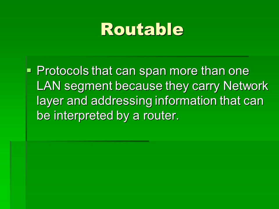 Protocol  The rules a network uses to transfer data.