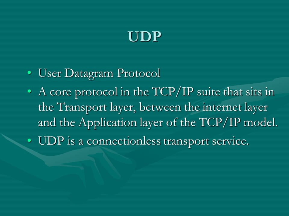 TCP Transport Control ProtocolTransport Control Protocol A core protocol of the TCP/IP suite.