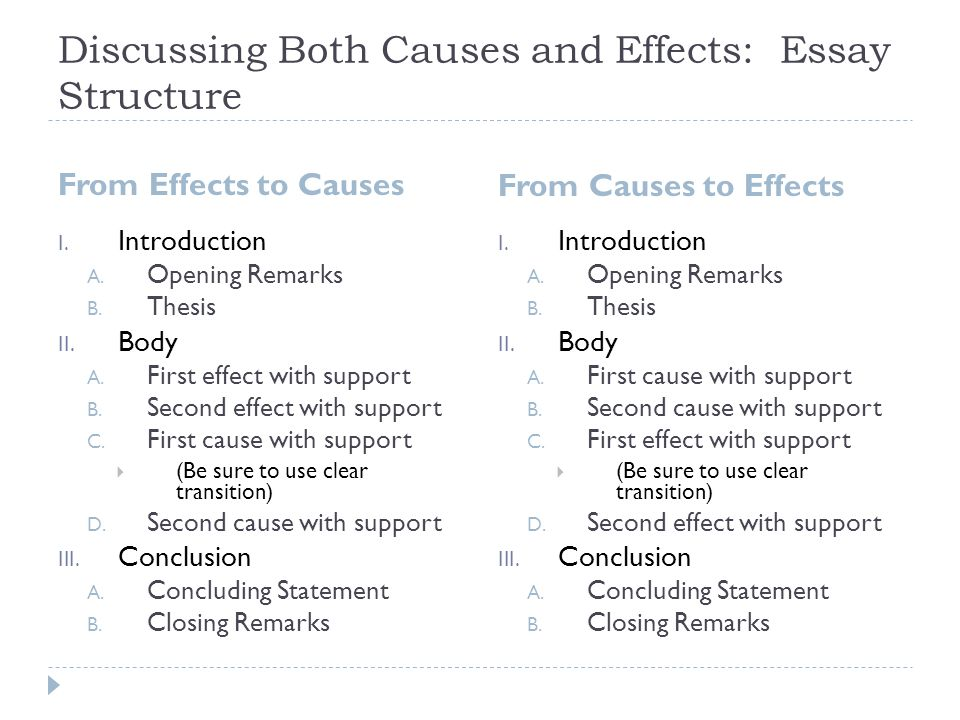 cause and effect purpose of cause and effect  purpose  discussing both causes and effects essay structure from effects to causes from causes to effects