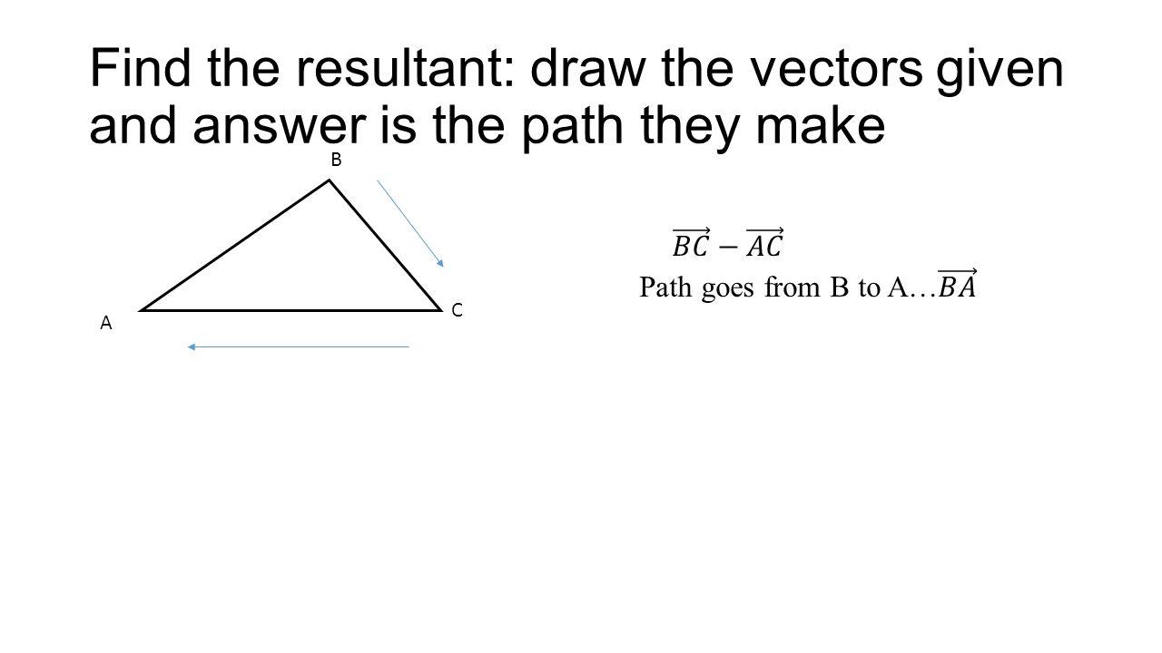Subtracting vectors problems