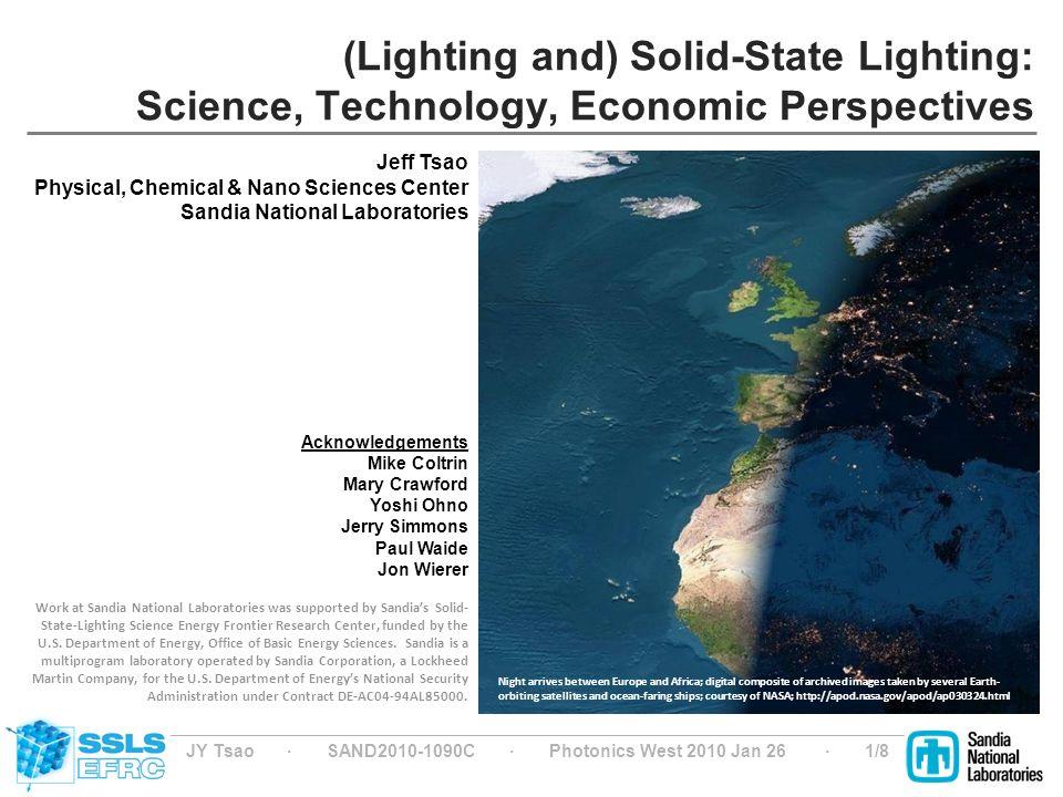 1 JY ...  sc 1 st  SlidePlayer & JY Tsao ? SAND C ? Photonics West 2010 Jan 26 ? 1/8 (Lighting ... azcodes.com