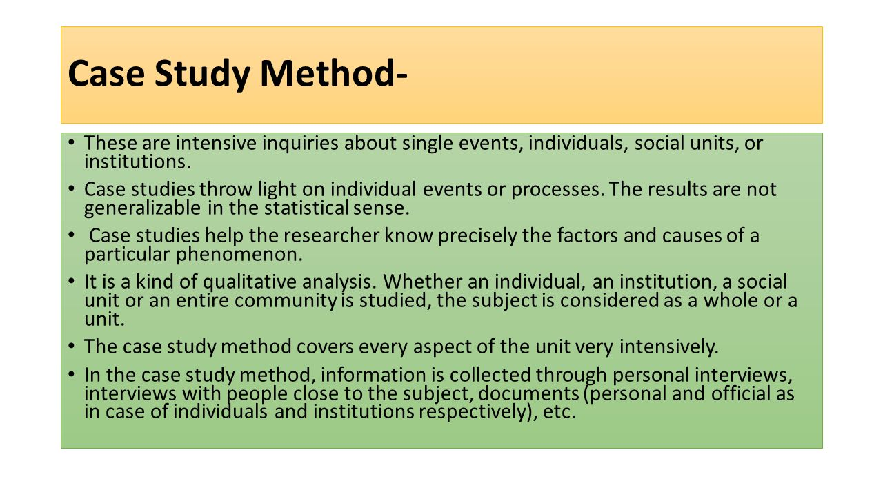 case study methodology essay