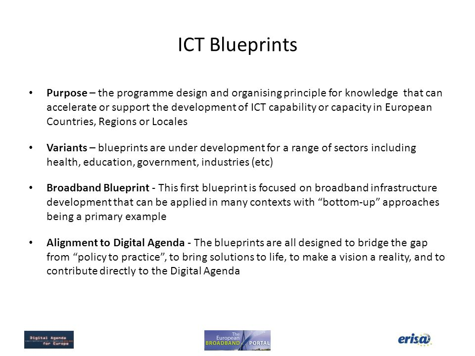 European broadband portal phase ii application of the blueprint 2 ict blueprints malvernweather Images