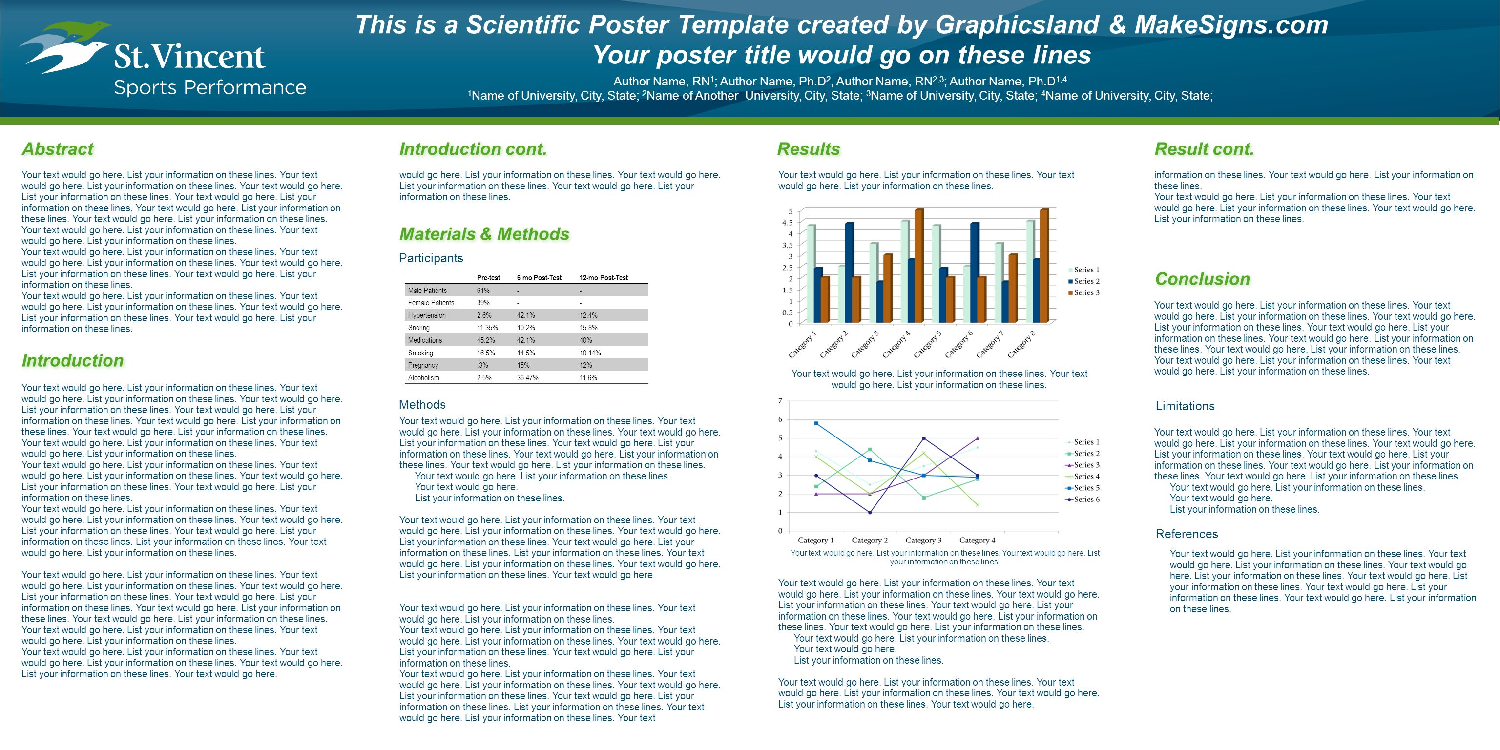 Scientific poster template