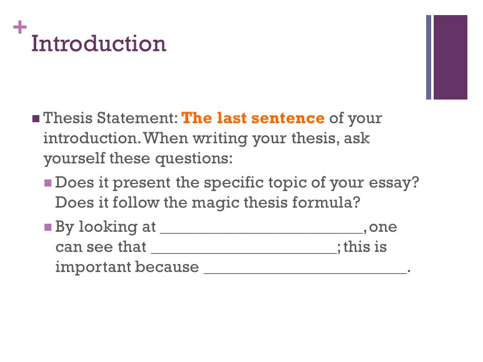 to kill a mockingbird essay    introduction attention getter  make      introduction thesis statement  the last sentence of your introduction  when writing your thesis