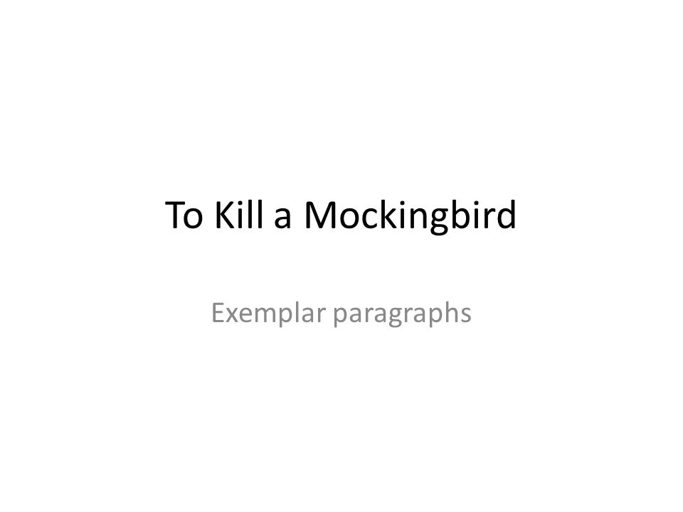 Essay On To Kill A Mockingbird Racism