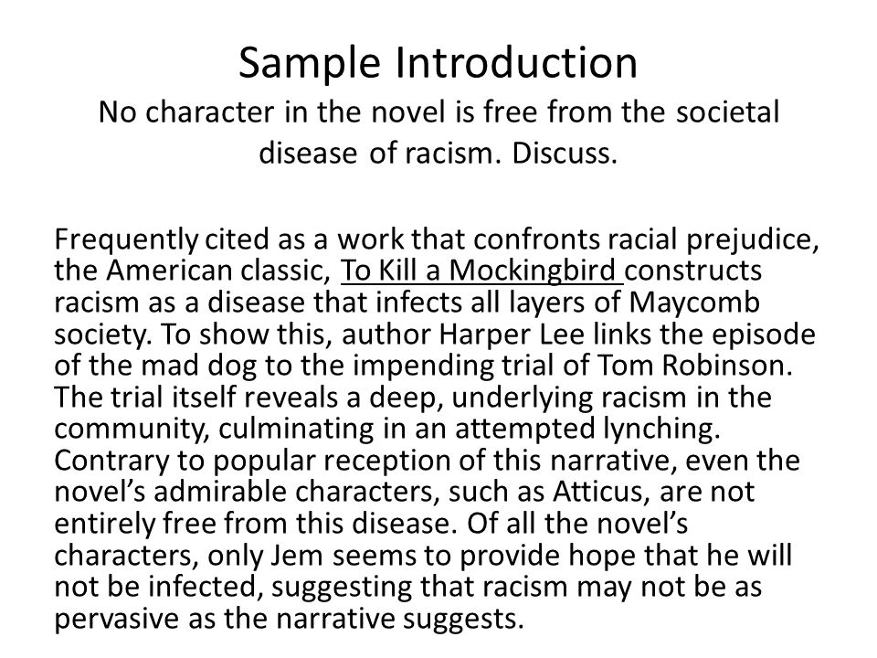 Racism in the form of Disease for To Kill A Mockingbird by Harper Lee?