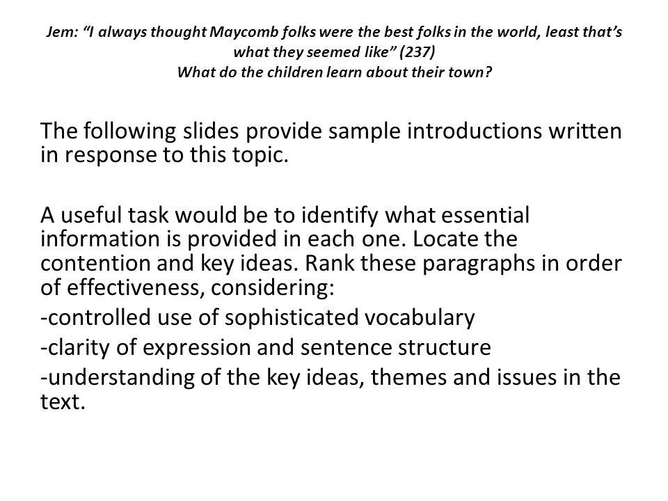 An Informal Essay
