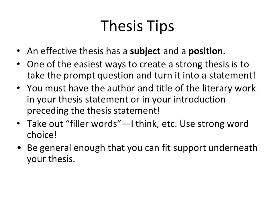 tips on writing a thesis title Home academic resource center writing center writing tips crafting the critical analysis what is the author's thesis models for writing a critical analysis.
