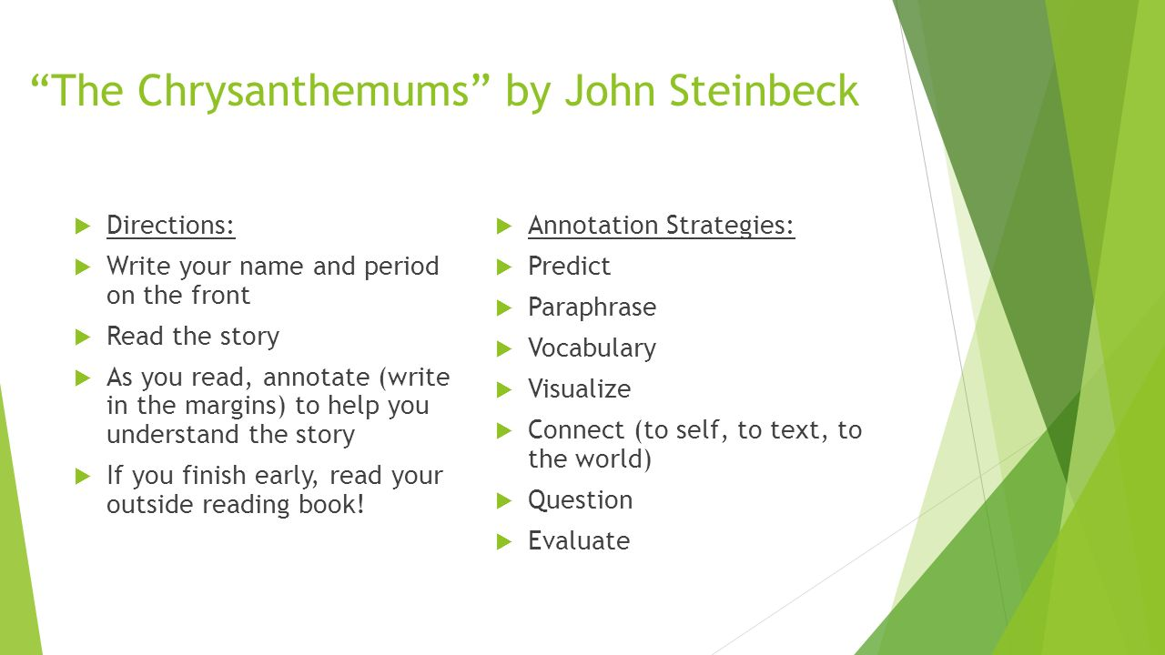 john steinbeck character analysis In the novel, east of eden by john steinbeck, catherine ames is one of the main characters she is introduced to the reader as a monster and as time goes on, she possesses both monster like and animal qualities.